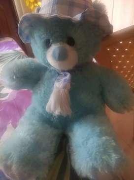 Blue teddy bear soft toy
