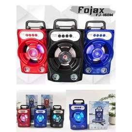 Speaker Bluetooth Tenteng FOJAX FJ-16DW Bahan Kayu Bisa Mic Karaoke