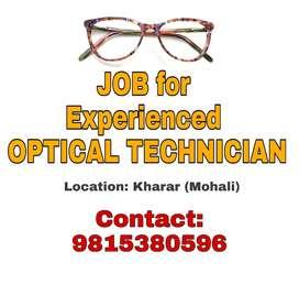 Experienced Optical Technician
