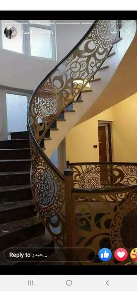 CNC laser and plasma cutting. stainless steel railing