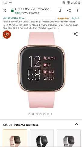 Fitbit versa 2 brand new seal pack smart watch