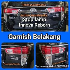 Garnish lampu rem Reborn innova belakang stop lamp chrome or hitam
