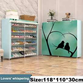Non-woven cloth shoe rack for home and office