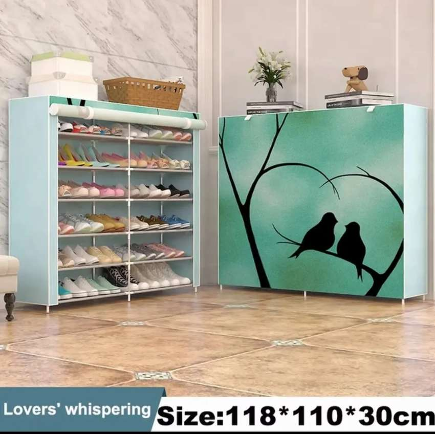 Non-woven cloth shoe rack for home and office 0