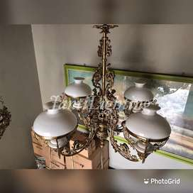 Lampu gantung hias antik cabang hias pendopo joglo lawasan murah
