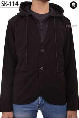 Blazer Casual, Blazer Formal, Blazer Casual with Hoodie Black Style