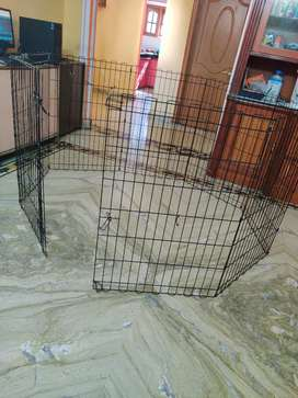 """Iron dog foldable cage 36""""with door."""