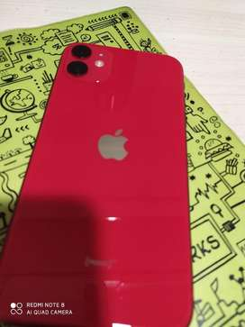 Iphone 11 red 64 gb only 2 month old with bill