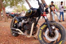 Heavy Copper/ bobber modified motorcycle