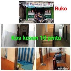 Jual Tanah beserta bangunan (Ruko + Kost 10 pintu)