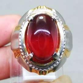 Cincin Batu Natural Garnet Merah Selon Asli