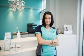Clinic receptionist preferably female