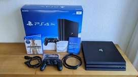 PS4 PRO Under Warranty with 4 Games 10 months old with Bill and box