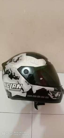 Helm nolan full set bonus visor clear n smoke harga masuk akal