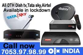 NEW Airtel Dish tv Tatasky DTH HD Connection Dishtv Tata sky AirtelHD