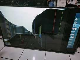 Tv LED hisense 43m2165p kondisi layar nya seperti di gambar