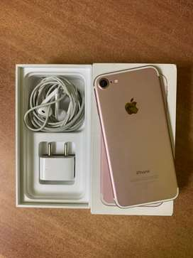 iPhone 7 128 GB rose gold excellent condition box accessories