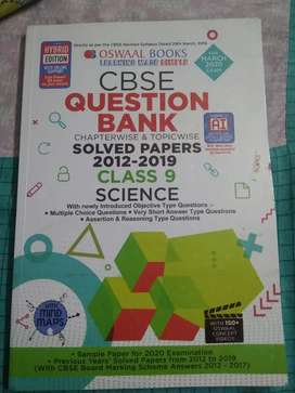 Class 9 science Oswal question bank book