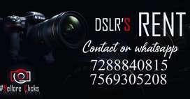 DSLR CAM FOR RENT 700/- FULL DAY