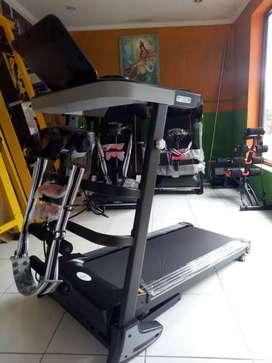 Treadmill elektrik murah bonus DUMBLE set 20 kg