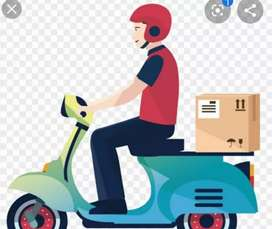 Delivery work  any products Gift items parcel food etc.  Fixed salary