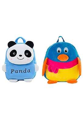 teddy soft backpack in multi colors for kids