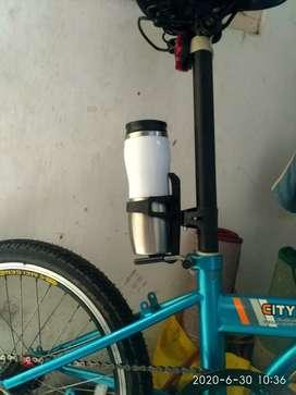 Botol minum sepeda 750 ml stainless kombinasi putih