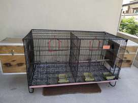 Double portion Birds Cage 3.5 feet * 2.5 feet , Iron Cage