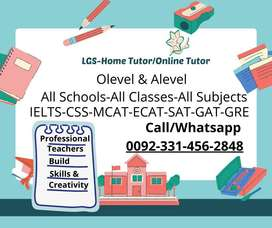 Best and professional Home Tutors and Online Tutors Available, Lahore