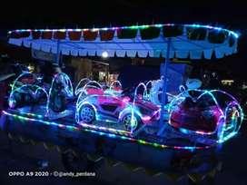 Odong kereta mini wisata mainan koin siap usaha UK