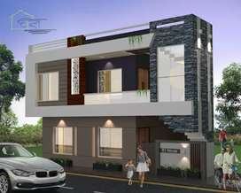 3 BHK Furnished Corner Bungalow.borewell,Jaquar fitting,fall ceilings