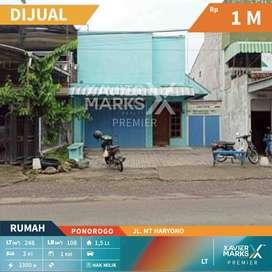 Dijual Rumah+toko di jl. MT Haryono kota Ponorogo