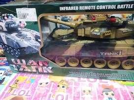 Mainan anak tank baru besar rc sia kirim2