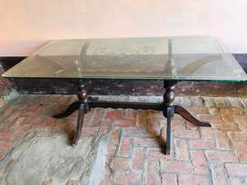 Dining table ( glass ) with 6 chair