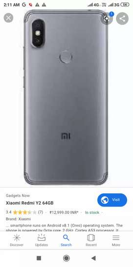 Redmi y2 at 3999 only condition phone