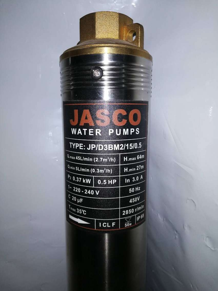 0.5hp Submersible missile Water Pump Deep Well. 100%Copper Jasco New 0