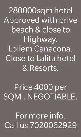 Hotel Approved Project with all permission for Sale @Loliem Canacona