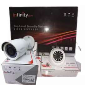 Alat pengamanan kamera cctv 4 channel 2mp 1080p