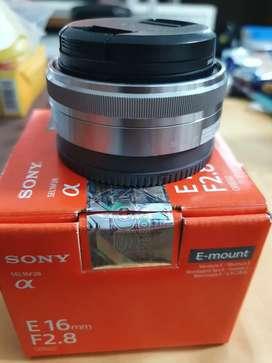 Lensa Sony SEL 16mm pancake like new garansi panjang