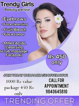 TRENDY GIRLS BEAUTY PARLOUR(womens only)