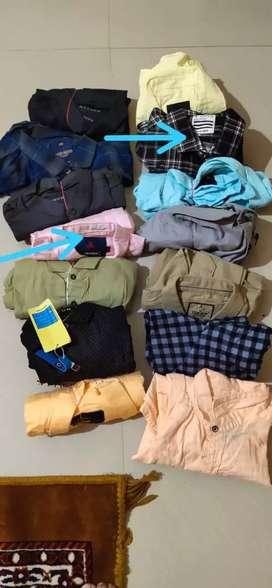 Men shirt:250. Size:M L xl ..pant:300size:28*30*32*34