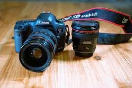 Canon 5d Mk 3 body with Canon 24-70 f2.8 L Lens & Canon 24mm f 1.4 L L