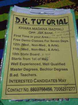 I am available for home tutor