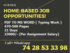 Use Your Free Time In Earn More And More Income -- Do Typing Work