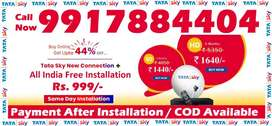 Tata Sky DTH Connection- D2h Videocon Tatasky Dish - Cash On Delivery