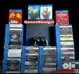 PS4 console 500gb with 2 controllers 40 games  warranty