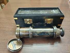 Antique Maritime Brass Dolland London 1920 Telescope Vintage Spyglass