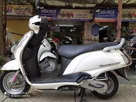 Suzuki access 125 cc in white colour 12,134 km