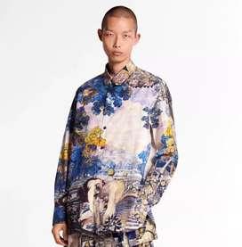 Jual promo kemeja louis vuitton paris SS 2020 painting shirt