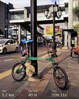 Sepeda lipat antik  th 1974